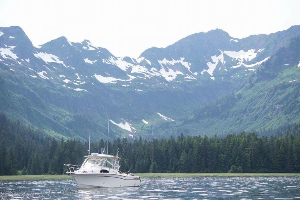 Seattle NWGWC member Nick Hoffman's Marlin 30 in SE Alaska